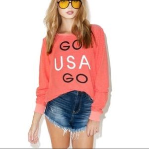 NWOT Wildfox Go USA Go jumper, S